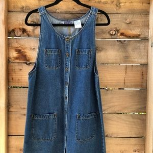 Vintage Overall Denim Dress